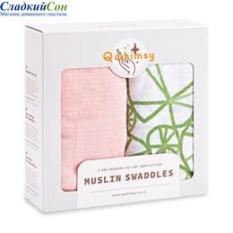 Набор муслиновых пеленок Qwhimsy Экология QSB005 2 шт.