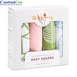 Набор муслиновых салфеток Qwhimsy Экология QMS002 4 шт.