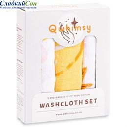 Набор полотенец для лица Qwhimsy Красная книга QWC005 3 шт.