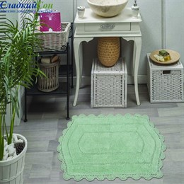 Набор ковриков для ванной Sofi de Marko BELLA (ментол) кружевной 60*100/50*70