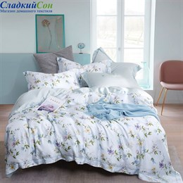 Комплект постельного белья Asabella 1311-4S 1,5-спальный белый