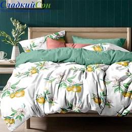Комплект постельного белья Asabella 1151-6/160 с простыней на резинке Евро белый