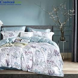Комплект постельного белья Asabella 1444-6/180 с простыней на резинке Евро белый