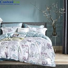 Комплект постельного белья Asabella 1444-6/160 с простыней на резинке Евро белый