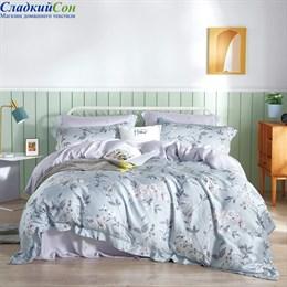 Комплект постельного белья Asabella 1445-6 Евро светло-серый
