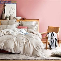 Комплект постельного белья Asabella 1448-6 Евро бежевый