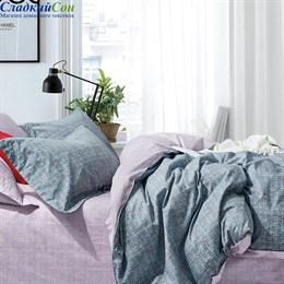 Комплект постельного белья Asabella 1407-6/180 с простыней на резинке Евро серый
