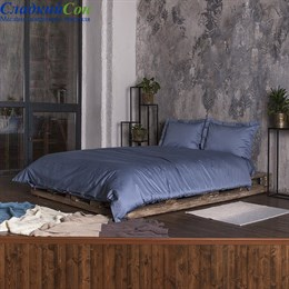 Комплект постельного белья Luxberry DAILY BEDDING облака 1,5-спальный голубая сталь