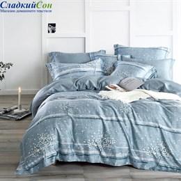 Комплект постельного белья Asabella 1451-6 Евро голубой