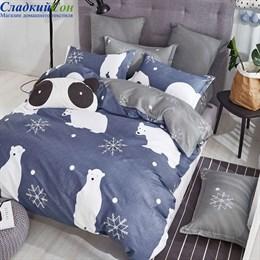 Детское постельное белье Asabella 1395-4XS 1,5-сп. голубая сталь