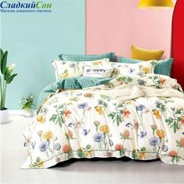 Комплект постельного белья Asabella 1466-7 Семейный кремовый