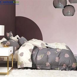 Комплект постельного белья Asabella 1471-6 Евро серый