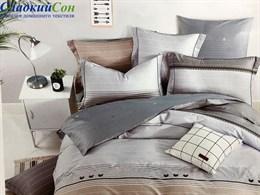 Комплект постельного белья 1,5-спальный, печатный сатин 1463-4S