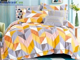 Комплект постельного белья Asabella 1,5-спальный, печатный сатин 1483-4S