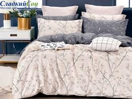 Комплект постельного белья Семейный, печатный сатин 1486-7