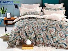 Комплект постельного белья Asabella Семейный, печатный сатин 1488-7