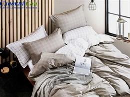 Комплект постельного белья 1,5-спальный, печатный сатин 1493-4S