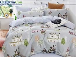 Комплект постельного белья Asabella 1,5-спальный, печатный сатин 1500-4S