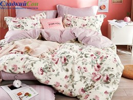 Комплект постельного белья Семейный, печатный сатин 1505-7