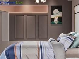 Комплект постельного белья 1,5-спальный, печатный сатин 1545-4S