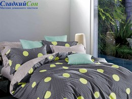 Комплект постельного белья Asabella 1,5-спальный печатный сатин 1554-4s